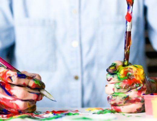Mann der malt