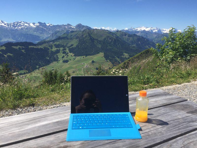Stanserhorn mit Notebook