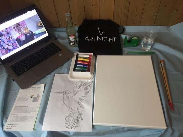 ArtNight Home Vorbereitung